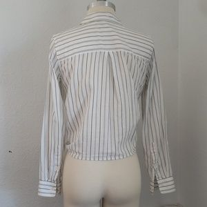 Madewell Tops - Madewell striped tie front button down